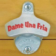 DAME UNA FRIA Starr X Wall Mount Stationary Bottle Opener, Metal Classic