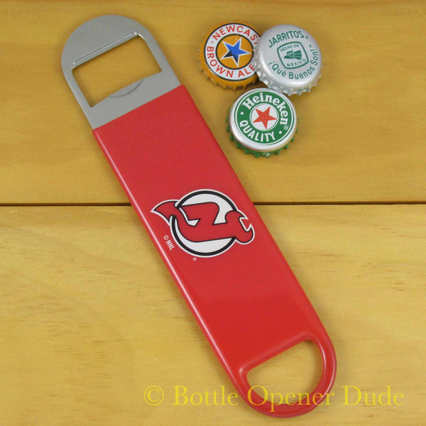 New Jersey Devils SPEED, BAR BLADE Bottle Opener Vinyl Coated Steel NHL