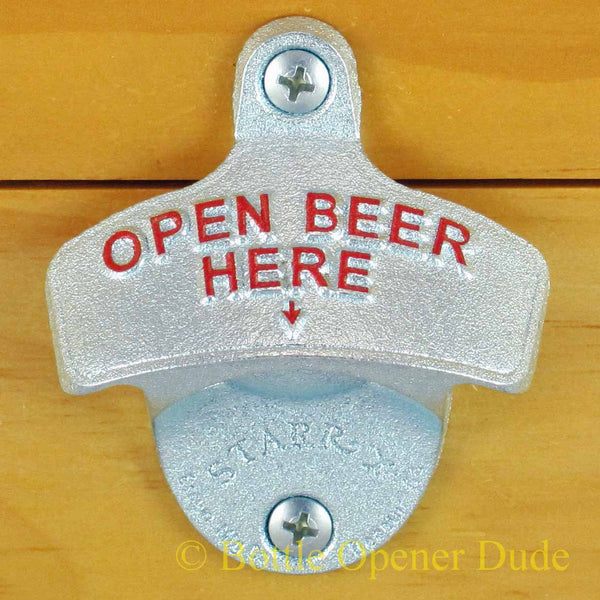 Open Beer Here Starr X Cast Iron Bottle Opener