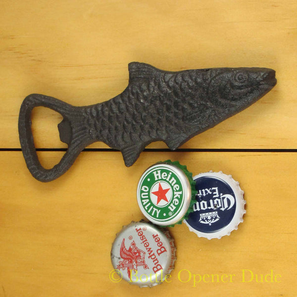 Cast Iron FISH Figural Bottle Opener, Reproduction of Classic Opener
