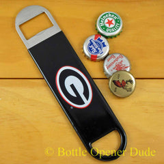 Georgia Bulldogs SPEED, BAR BLADE Bottle Opener, Vinyl Coated Steel UGA, NCAA