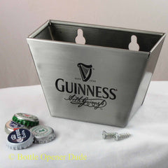 Guinness Stainless Steel Bottle Cap Catcher for Wall Mount Bottle Openers