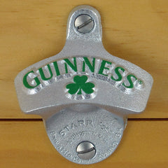 Guinness Shamrock Starr X Wall Mount Stationary Bottle Opener, Embossed