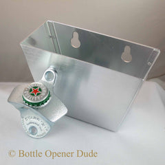 HEINEKEN Combo Bottle Cap Wall Mount Bottle Opener and Cap Catcher Set