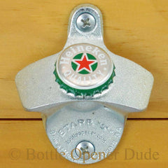 HEINEKEN Beer BOTTLE CAP Starr X Wall Mount Opener