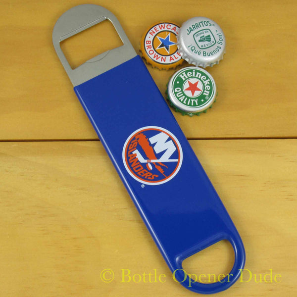 New York Islanders SPEED, BAR BLADE Bottle Opener Vinyl Coated Steel NHL