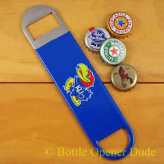 Kansas Jayhawks SPEED, BAR BLADE Bottle Opener Vinyl Coated Steel NCAA
