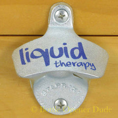 LIQUID THERAPY Starr X Wall Mount Stationary Metal Bottle Opener