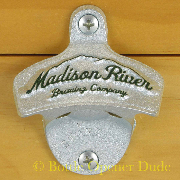 Embossed MADISON RIVER BREWING Starr X Wall Mount Stationary Bottle Opener