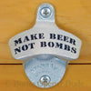 Make Beer Not Bombs Wall Mount Bottle Opener