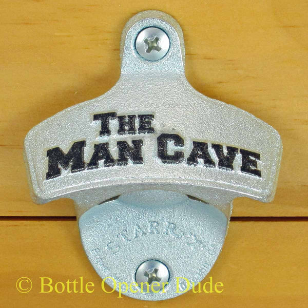 The Man Cave Embossed Starr X Bottle Opener