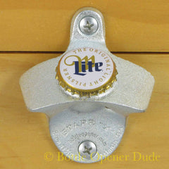 MILLER LITE Beer BOTTLE CAP Starr X Wall Mount Bottle Opener
