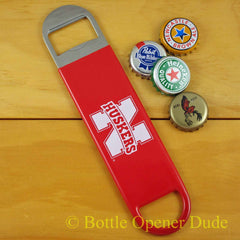 Nebraska Cornhuskers SPEED, BAR BLADE Bottle Opener Vinyl Coated Huskers NCAA