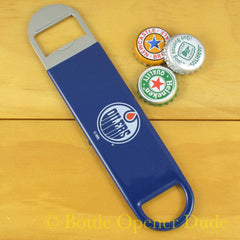 Edmonton Oilers SPEED, BAR BLADE Bottle Opener Vinyl Coated Steel NHL