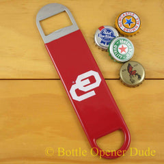 Oklahoma Sooners SPEED, BAR BLADE Bottle Opener, Vinyl Coated Steel, NCAA