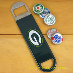 Green Bay Packers SPEED, BAR BLADE Bottle Opener Vinyl Coated Steel NFL