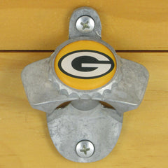 Green Bay Packers Wall Mount Bottle Opener Zinc Aluminum Alloy NFL