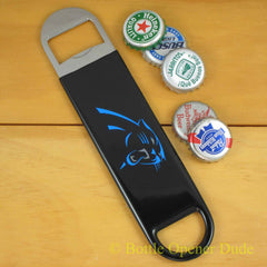 Carolina Panthers SPEED, BAR BLADE Bottle Opener Vinyl Coated Steel NFL