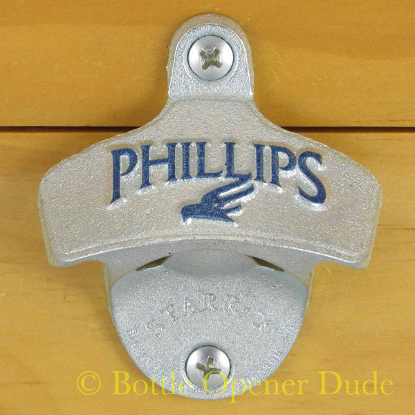 Embossed PHILLIPS BREWING Starr X Wall Mount Stationary Bottle Opener