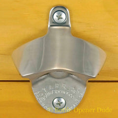 POLISHED STAINLESS STEEL Starr X Wall Mount Bottle Stationary Opener