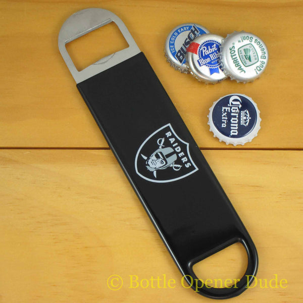 Oakland Raiders SPEED, BAR BLADE Bottle Opener Vinyl Coated Steel NFL