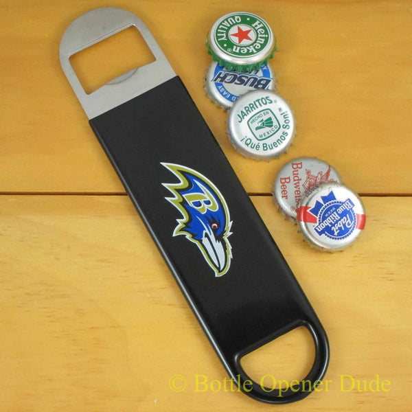 Baltimore Ravens SPEED, BAR BLADE Bottle Opener Vinyl Coated Steel NFL