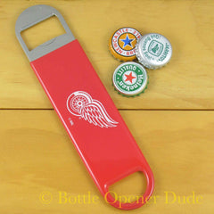 Detroit Red Wings SPEED, BAR BLADE Bottle Opener Vinyl Coated Steel NHL