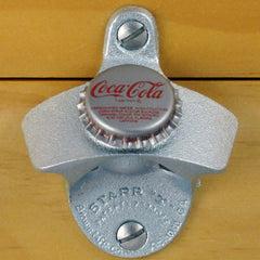 Coca Cola Coke VINTAGE BOTTLE CAP Starr X Wall Mount Bottle Opener