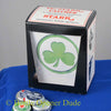 Small White SHAMROCK Metal Cap Catcher for Wall Mount Bottle Openers