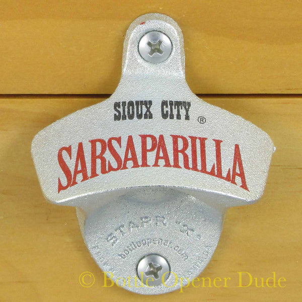 SIOUX CITY SARSAPARILLA Wall Mount STARR X Bottle Opener