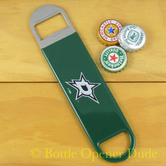 Dallas Stars SPEED, BAR BLADE Bottle Opener Vinyl Coated Steel NHL
