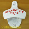 White Open Bottle Here Starr X Bottle Opener