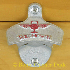 Embossed WILD HEAVEN Starr X Wall Mount Stationary Bottle Opener