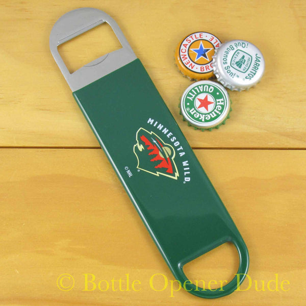 Minnesota Wild NHL Speed Blade Bar Bottle Opener