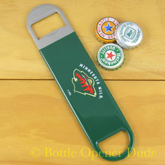 Minnesota Wild SPEED, BAR BLADE Bottle Opener Vinyl Coated Steel NHL