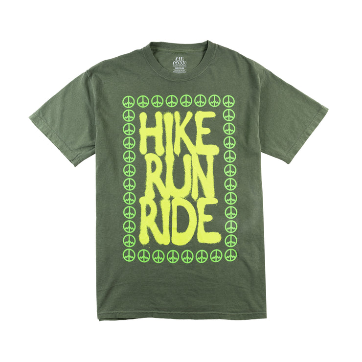 All Good Run Hike Ride T-Shirt - Light Green
