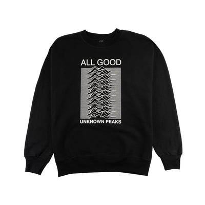 Unknown Peaks Crewneck Black