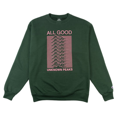 Unknown Peaks Crewneck Dark Green