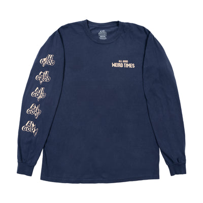 All Good Weird Times Longsleeve Shirt - Navy