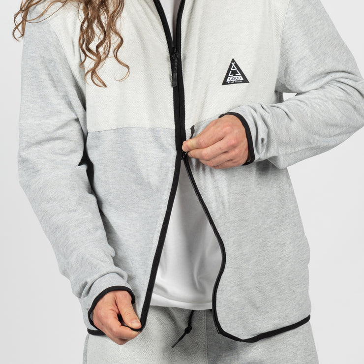 Ath Heather Zip Up