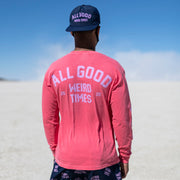 All Good Weird Times Longsleeve Shirt - Watermelon