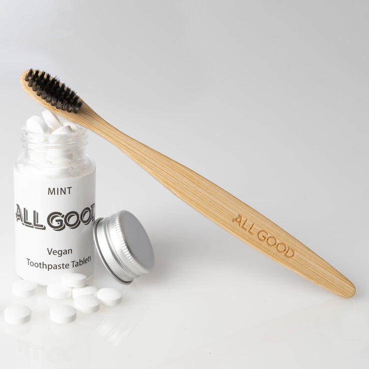All Good Biodegradable Bamboo Toothbrush - Black