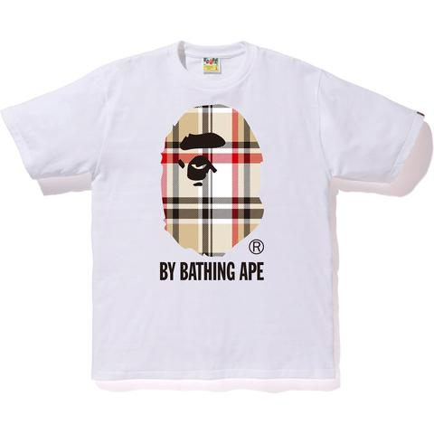 A Bathing Ape Check By Bathing Tee White