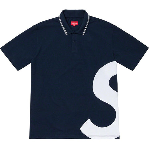 Supreme S Logo Polo Navy