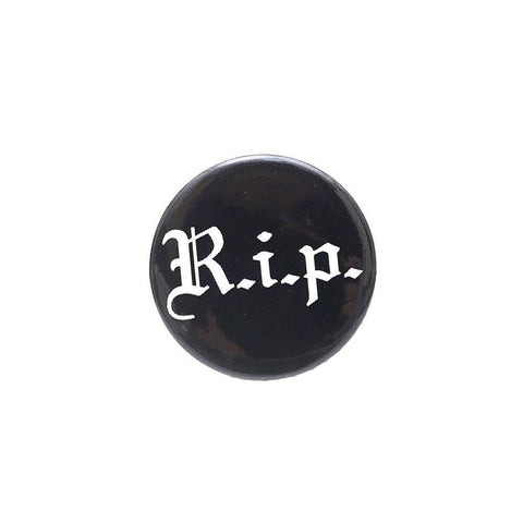 Supreme RIP Button Black