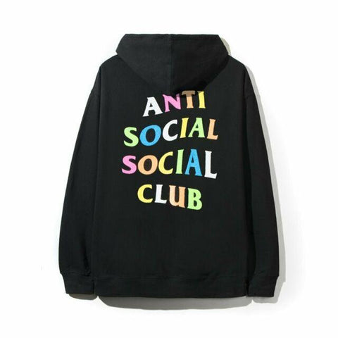 Anti Social Social Club Rainbow Sweatshirt Black