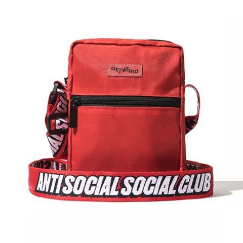 Anti Social Social Club Shoulder Bag Red