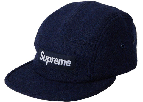 Supreme Navy Wool Camp Cap