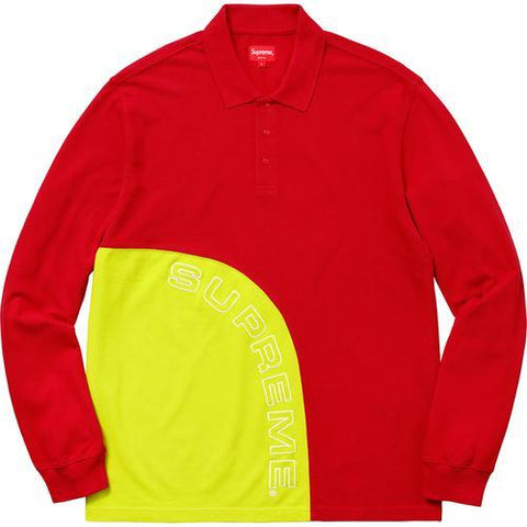 Supreme Red Corner Arc LS Polo