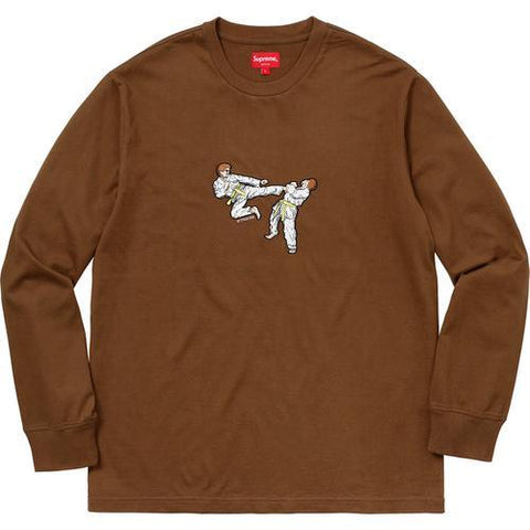 Supreme LS Karate Top Brown